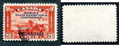 Used Canada 20 Cent Grain Exhibition Stamp #203 (Lot #8051)