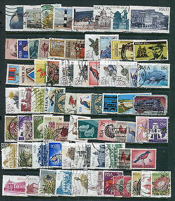 75 Different Used South Africa Stamps (Lot #d12)
