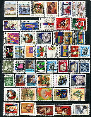 90 Different Used Canada Off Paper CHRISTMAS Stamps (Lot #d3)