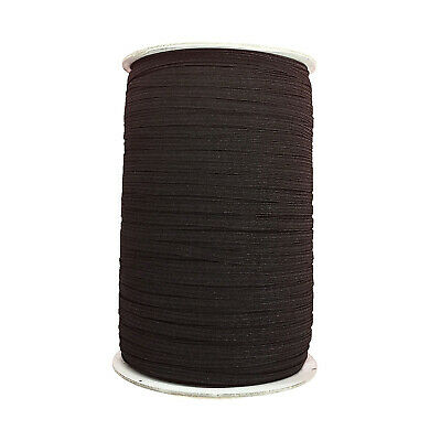 Black Round Elastic Cord 2mm Wide Crafts Ribbon Dressmaking Sewing Waistband