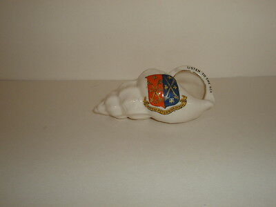 Antique Crested Ware China Seashell Crested City Of Peterborough - Exc. Cond.