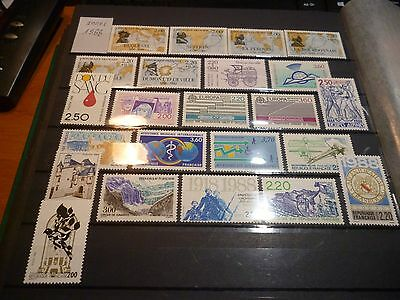 FRANCE LOT DE 23 timbres annee 1988 neuf**