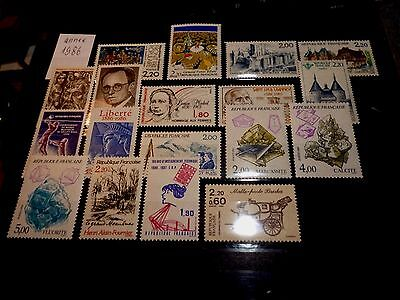 FRANCE LOT DE 18 timbres annee 1986 neuf**