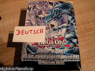 Structure Deck Saga of Blue-Eyes White Dragon Deutsch YUGIOH Blauäugiger Drache
