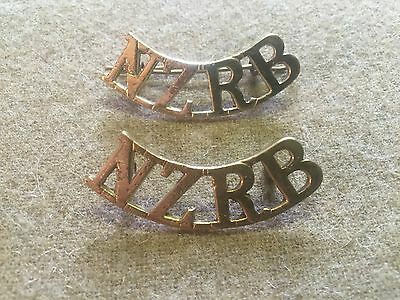 WW1 British army shoulder titles New Zealand Rifle Brigade -  reproduction