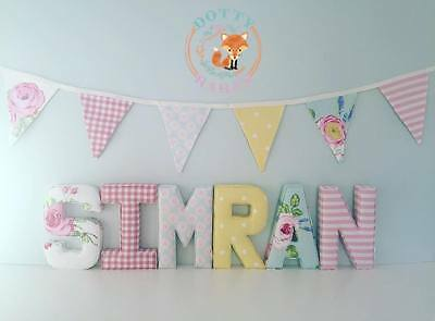 Fabric Letters Decorative Wall Art, Personalised, Nursery, Padded, Boy, Girl