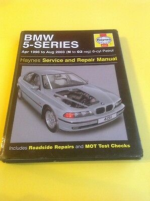 Haynes BMW 5 SERIES Workshop Manual 1996 to 2003 E39 6 cyl Good Used Condition