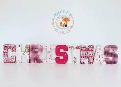 Fabric Letters Decorative Wall Art, Personalised Christmas Decoration, Boy, Girl