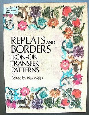 Repeats & Borders Iron-On Transfer Patterns Embroidery Crewel Work Rita Weiss