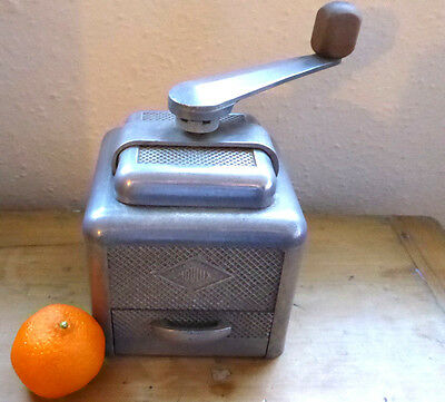 Vintage French Moulux Coffee Grinder Mill Cast Aluminium Art Deco 1930s Working