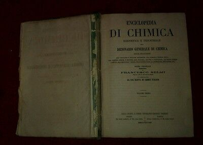 Antica ENCICLOPEDIA di chimica scientifica e industriale - libro volume 1 - 1868