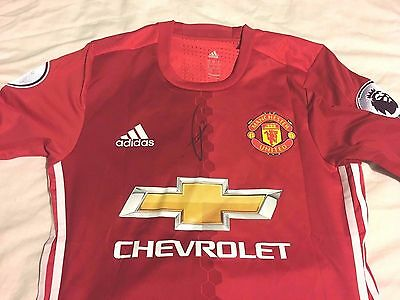 PAUL POGBA 6 AutograpH Proof COA SIGNED MANCHESTER UNITED PLAYER VERSION SHIRT