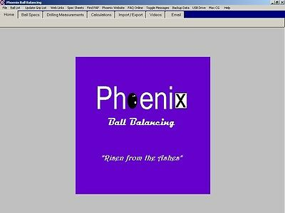 Phoenix Ball Balancing Software for Bowling Pro Shops and Students of the Game