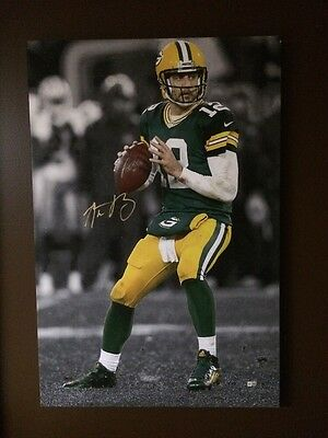 Aaron Rodgers 20x30 Autograph Signed Stretched Canvas Rodgers Hologram Rare