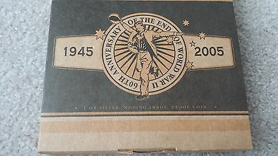 2005 60th Anniversary of the end of WWII 1oz Silver Proof $  Australian Coin
