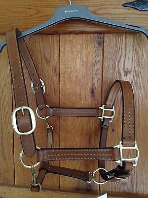 Quality Tan Leather Head Collar (Full)