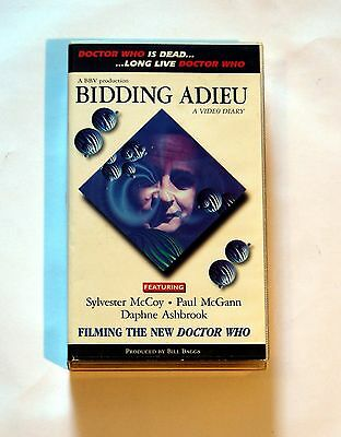"Bidding Adieu ""Filming the new Doctor Who"" VHS Video Sylvester McCoy Paul McGann"