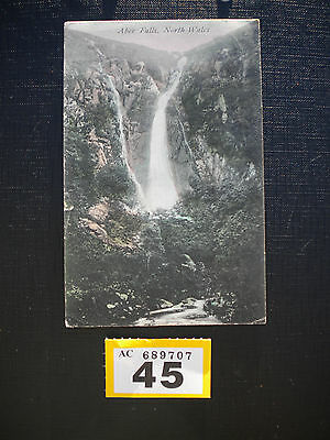 Vintage Postcard Aber Falls North Wales posted to Taunton 1905