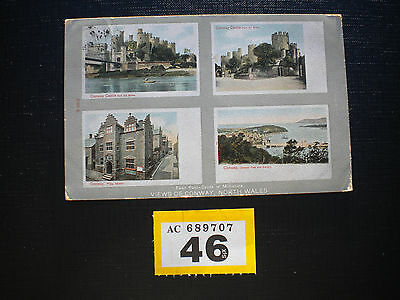 Vintage Postcard Views of Conwy posted to Taunton 1905