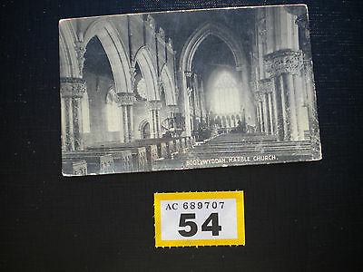 Vintage Postcard Bodelwyddan Marble Church posted to Worcester 1913
