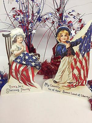 Bethany Lowe Americana Dummy Boards (RL6571): Sold as a Set of 2