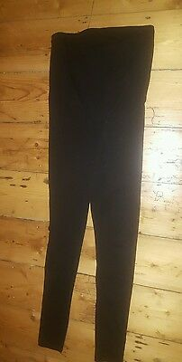 Used Mama H&m Maternity Pregnancy Black Leggings Over The Bump Band Size Small