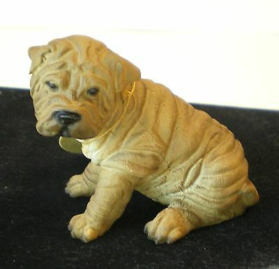 SHAR PEI COLLECTIBLE DOG FIGURINE FROM THE CANINE COLLECTION in Collectors Box