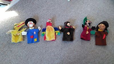 Steiff glove puppets - set of five