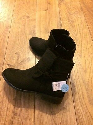 Ladies Suede Effect Boots New With Tags Size 6 Zip Up