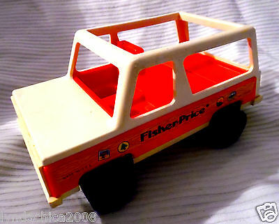 Vintage 1979 Fisher Price Little People Jeep Car ***Excellent condition***