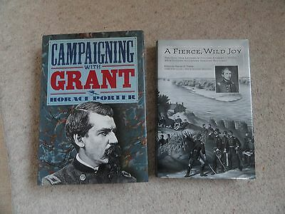 2 AMERICAN CIVIL WAR BOOKS HB Campaigning with Grant Porter 1992 + Towne 2007 ed