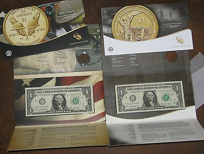 2016 2015 Coin & Currency set Dollar BILLS Only Sealed Uncriculated Lot 4 digit