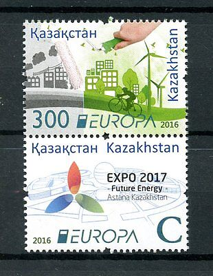 Kazakhstan 2016 MNH Europa Think Green EXPO 2017 Future Energy 2v Set Stamps
