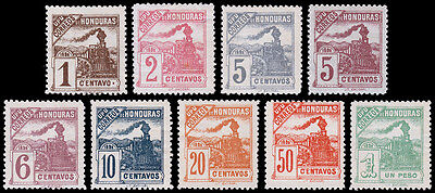 Honduras Scott 103-110, incl. 105b (1898) Mint H F-VF Complete Set