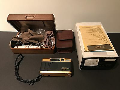 Contax T2 35mm Compact Film Camera 60 Years Anniversary Gold.