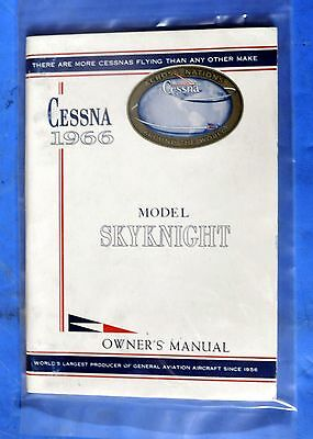 Pilot's Operating Handbook 1966 Cessna Skynight New in Sealed Package