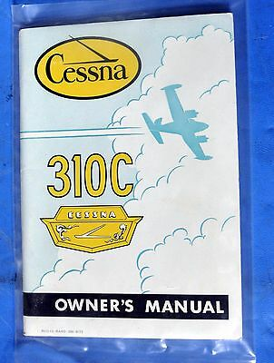 Pilot's Operating Handbook Cessna 310C New in Sealed Package