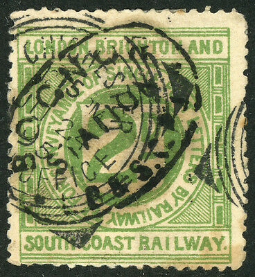 #252 London Brighton and South Coast Railway Letter Stamp  De L S #8