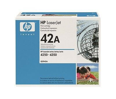 New Genuine Factory Sealed HP 42A Laser Cartridge in Bright Blue & White Box