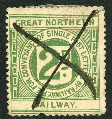 #252a Great Northern Railway Letter Stamp  Perf 11.5 De L S #3