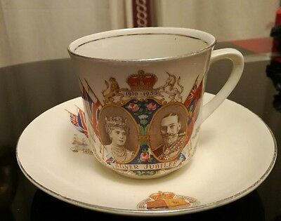 ~ Vintage King George & Queen Mary ~ Silver Jubilee Cup & Saucer ~ Buy Now ~