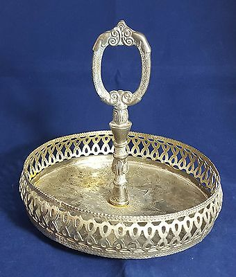 Beautiful Vintage silver plated Shot Glass Stand (Height - 17 cm)