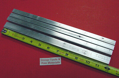 "4 Pieces 1/2"" X 3/4"" ALUMINUM 6061 FLAT BAR 12"" long .50"" Solid New Mill Stock"