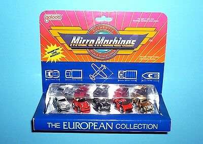 MICRO MACHINES - THE EUROPEAN COLLECTION 1987 - OVP NEW Vintage VG
