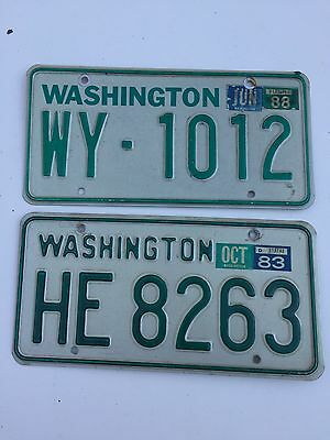 2 1980's Washington License Plates