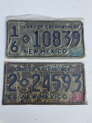 2 New Mexico License Plates 1967 & 1969