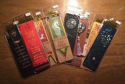 8 Antioch LORD OF THE RINGS Bookmarks w/ Map, cutwork, medallion, banners, guide
