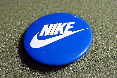 Nike Lapel Pin Button Pinback Blue & White Swoosh Shoe Company Athletic Clothes