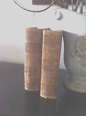Antique French Leather Bound Books