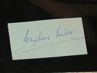DOUGLAS BADER - WW2 Fighter ACE / Battle of Britain - SIGNED CUT PAGE Autograph